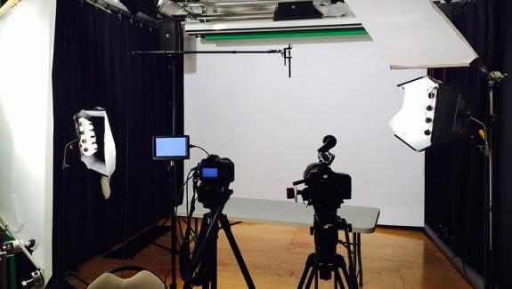 video studio shoot, video blog