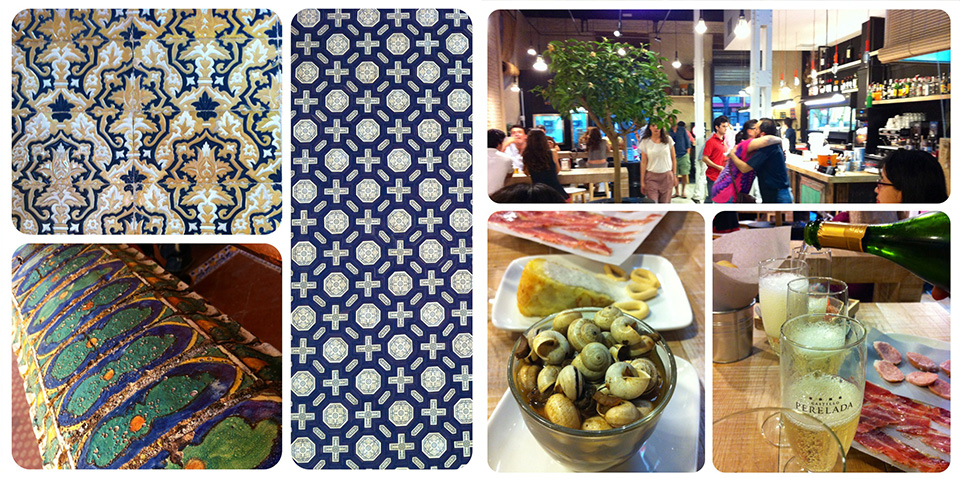 Tiles, textures and tapas fo Spain