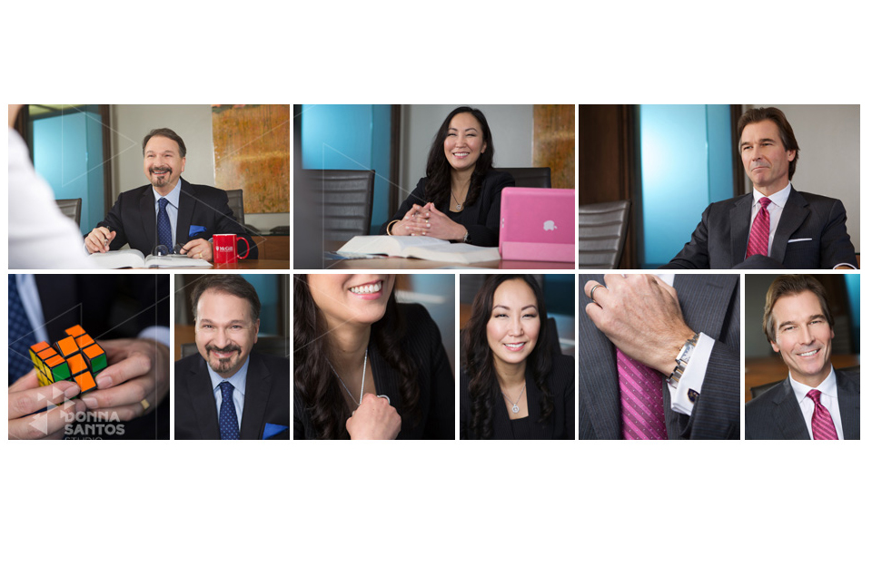 Concept Portrait example featuring multiple happy images of 3 executives