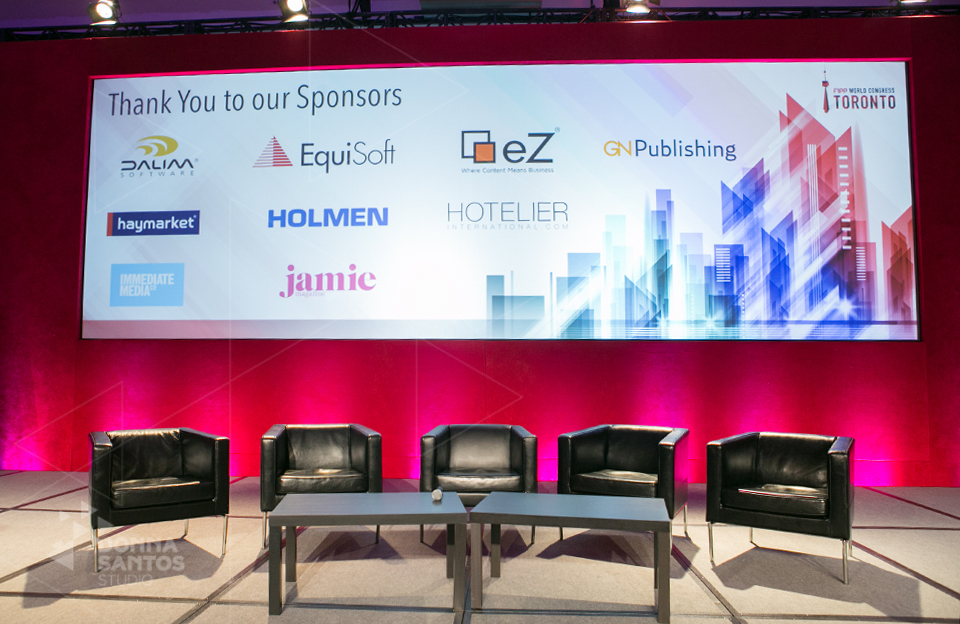 example of sponsor-acknowledgement-shot corporate event photography for Fipp Conference Donna Santos Studio Toronto