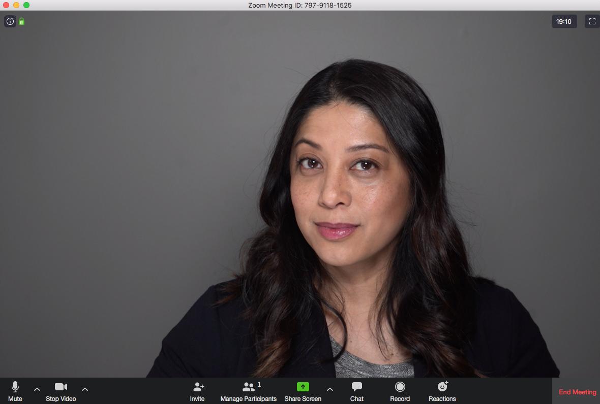 zoom meeting screen capture